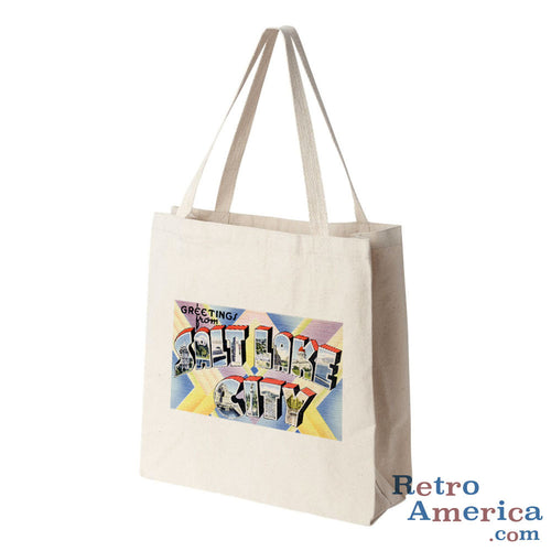 Greetings from Salt Lake City Utah UT 1 Postcard Tote Bag