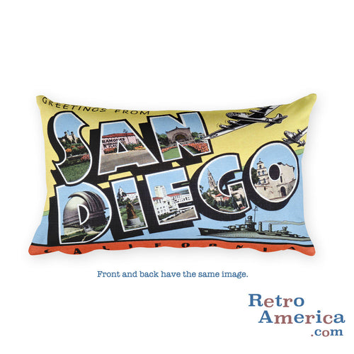 Greetings from San Diego California Throw Pillow 4