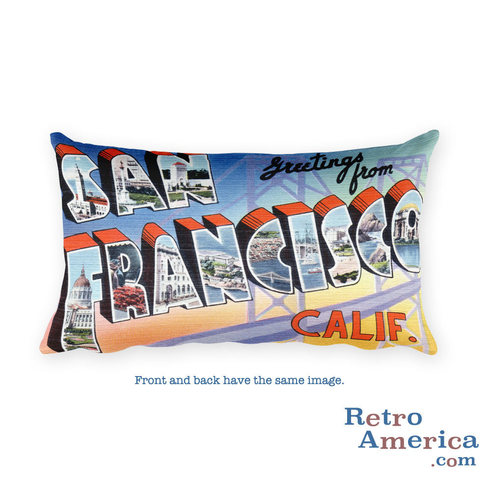 Greetings from San Francisco California Throw Pillow 2