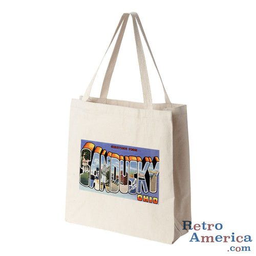 Greetings from Sandusky Ohio OH Postcard Tote Bag