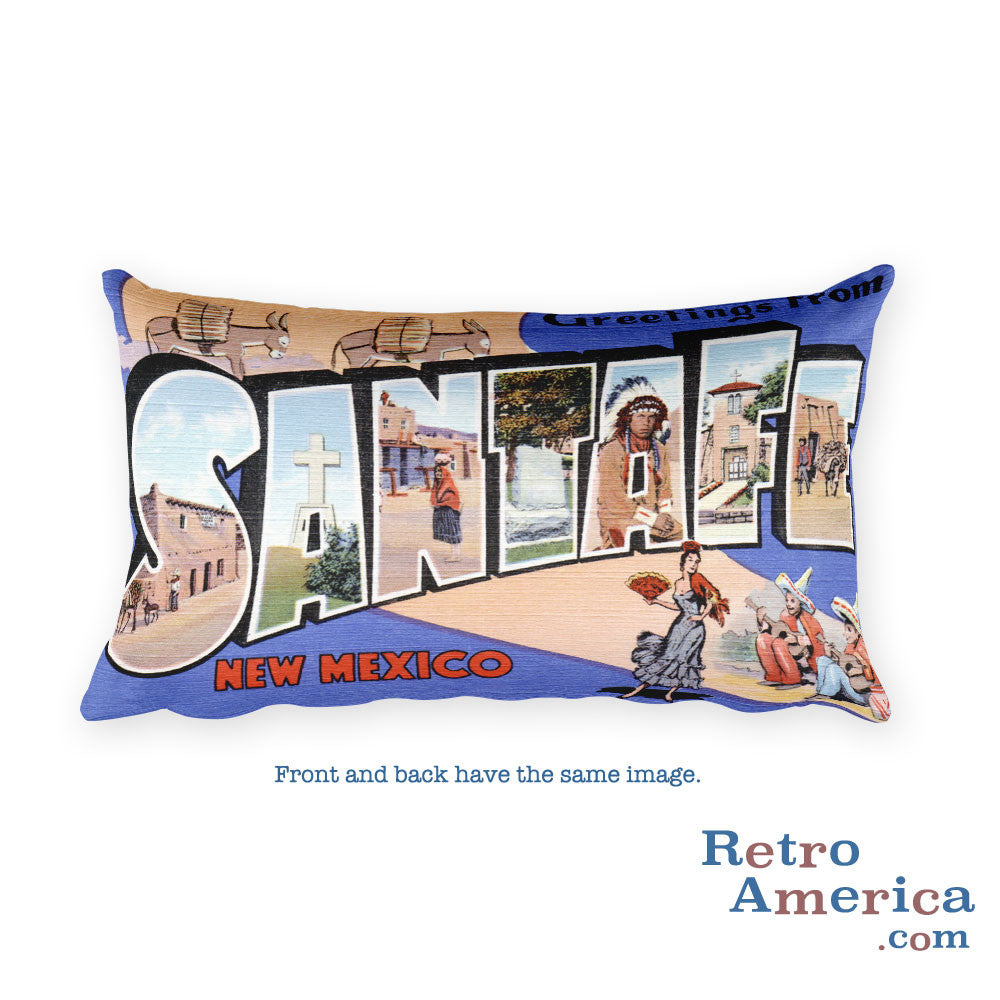 Greetings from Santa Fe New Mexico Throw Pillow