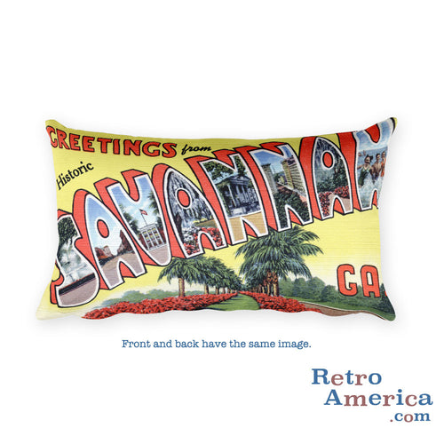 Greetings from Savannah Georgia Throw Pillow