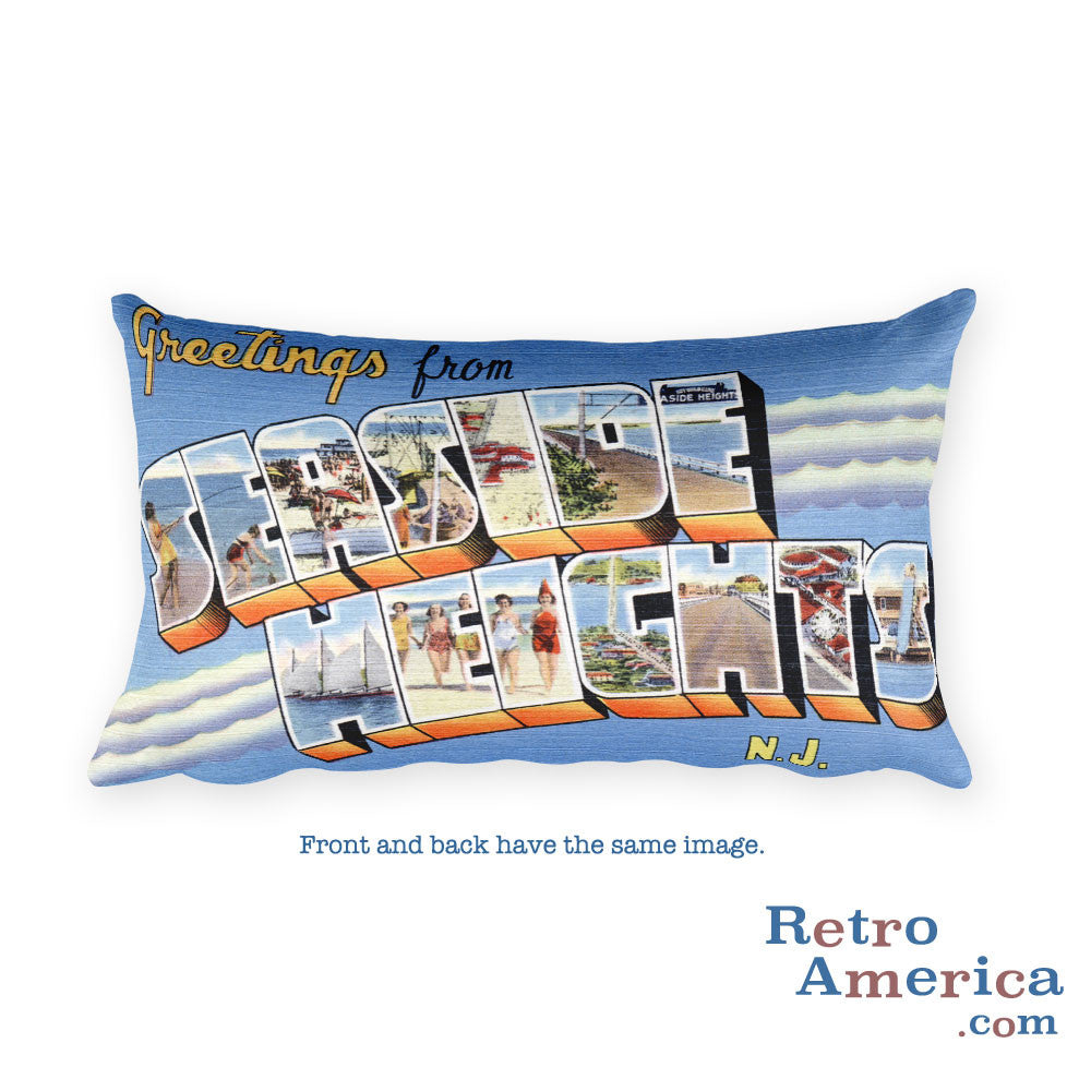 Greetings from Seaside Heights New Jersey Throw Pillow