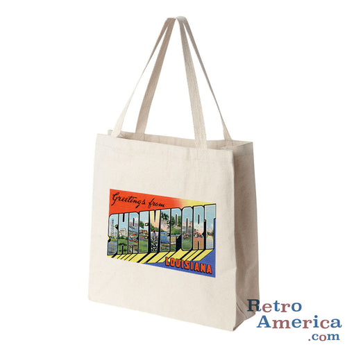 Greetings from Shreveport Louisiana LA Postcard Tote Bag