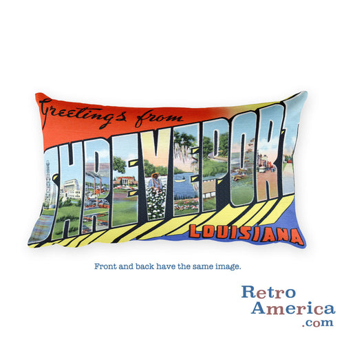 Greetings from Shreveport Louisiana Throw Pillow