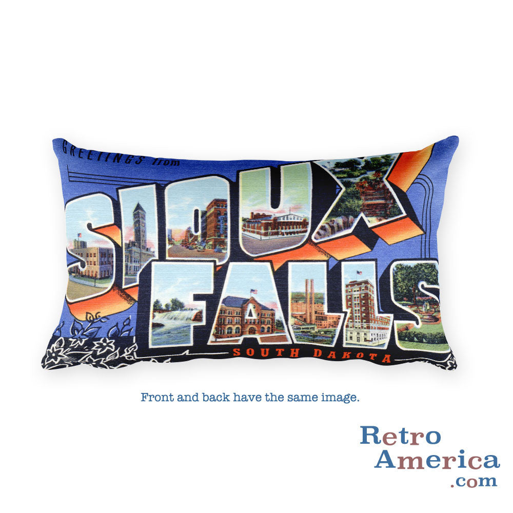 Greetings from Sioux Falls South Dakota Throw Pillow