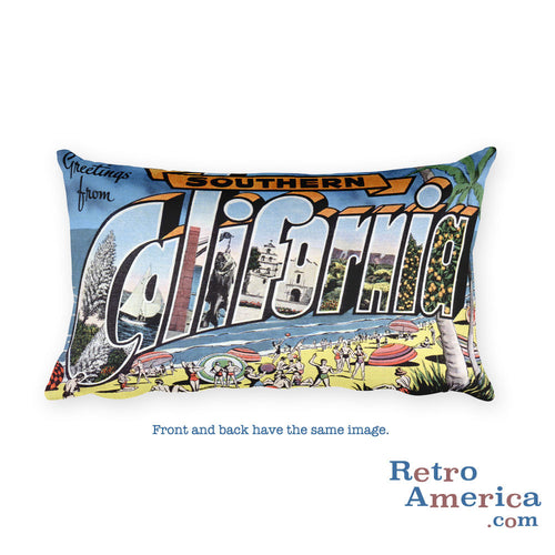 Greetings from Southern California Throw Pillow