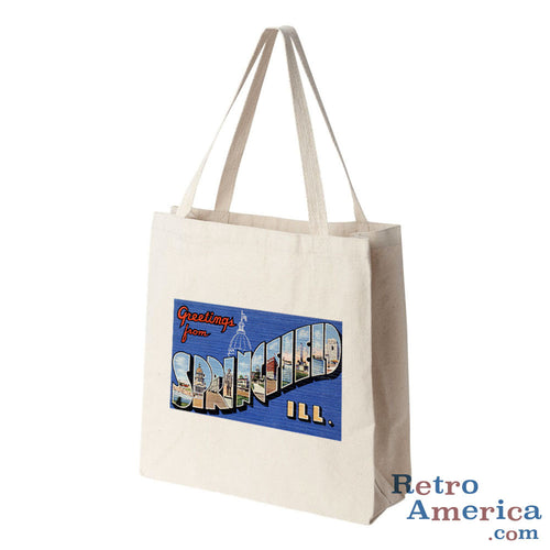 Greetings from Springfield Illinois IL Postcard Tote Bag