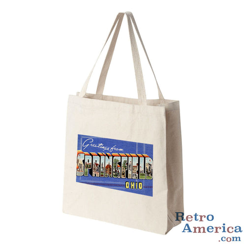 Greetings from Springfield Ohio OH Postcard Tote Bag