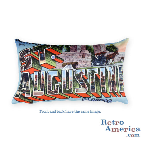 Greetings from St Augustine Florida Throw Pillow 2
