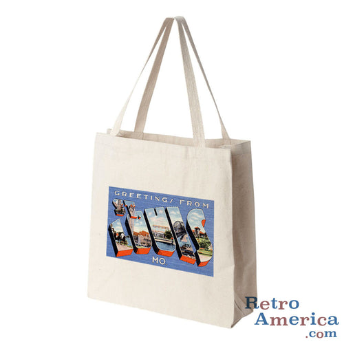 Greetings from St Louis Missouri MO 1 Postcard Tote Bag