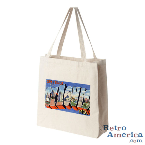 Greetings from St Louis Missouri MO 2 Postcard Tote Bag