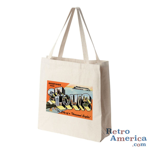 Greetings from St Louis Missouri MO 3 Postcard Tote Bag