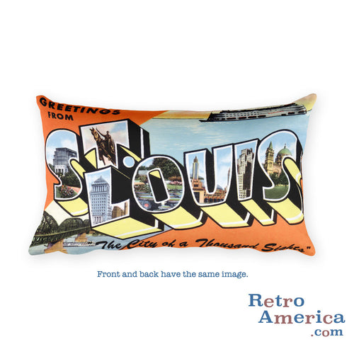 Greetings from St Louis Missouri Throw Pillow 2
