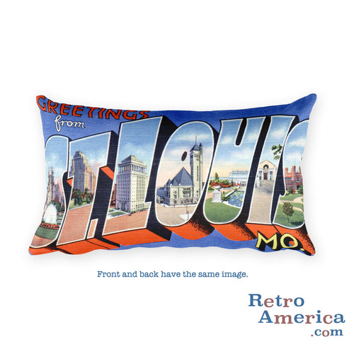 Greetings from St Louis Missouri Throw Pillow 3