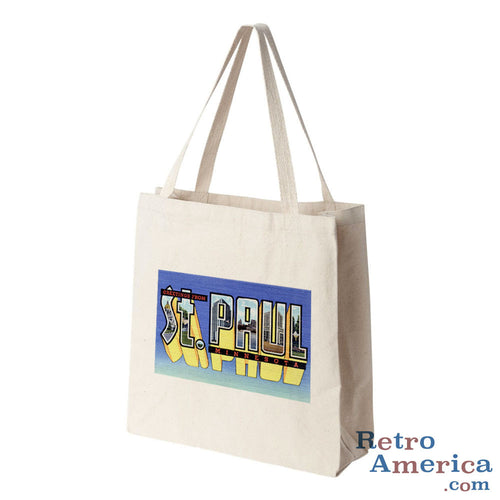 Greetings from St Paul Minnesota MN 2 Postcard Tote Bag