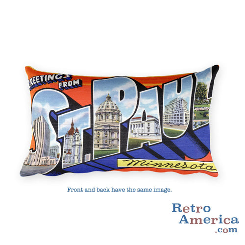 Greetings from St Paul Minnesota Throw Pillow 1
