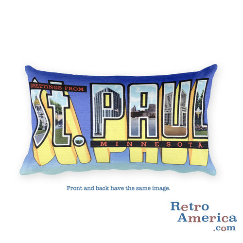 Greetings from St Paul Minnesota Throw Pillow 2