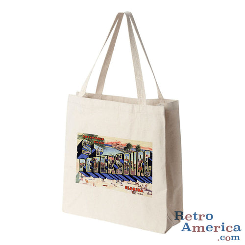 Greetings from St Petersburg Florida FL Postcard Tote Bag