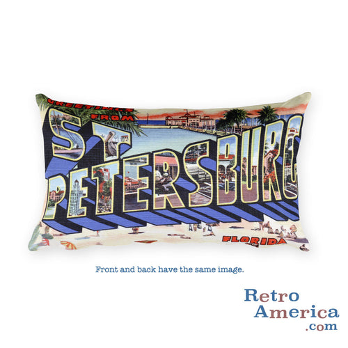 Greetings from St Petersburg Florida Throw Pillow