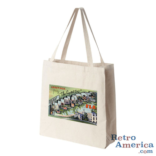 Greetings from Tallahassee Florida FL 1 Postcard Tote Bag