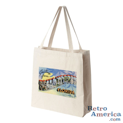 Greetings from Tallahassee Florida FL 2 Postcard Tote Bag