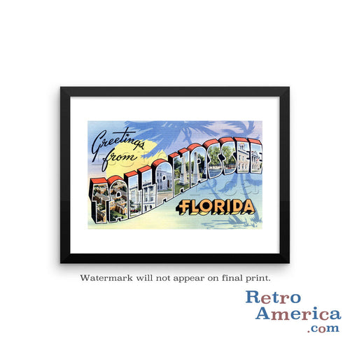 Greetings from Tallahassee Florida FL 2 Postcard Framed Wall Art