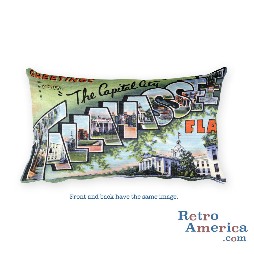 Greetings from Tallahassee Florida Throw Pillow 1