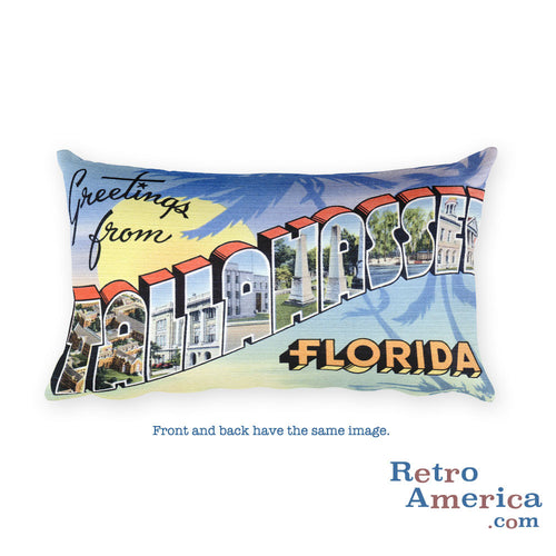 Greetings from Tallahassee Florida Throw Pillow 2
