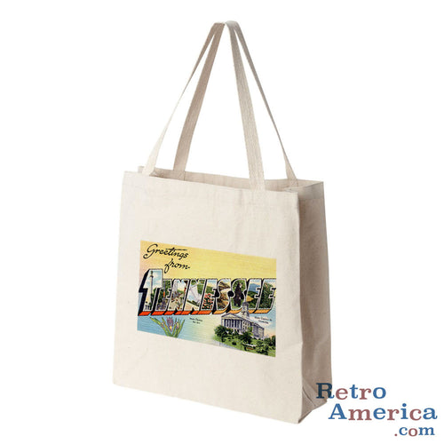 Greetings from Tennessee TN Postcard Tote Bag