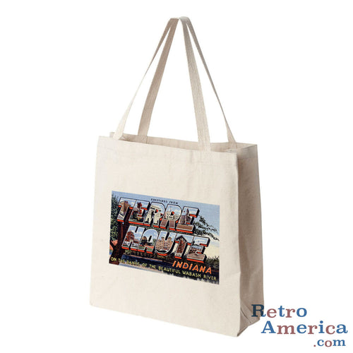 Greetings from Terre Haute Indiana IN 1 Postcard Tote Bag