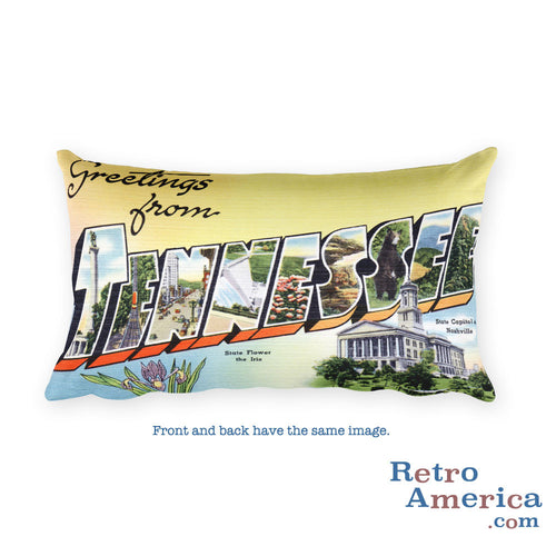Greetings from Terre Haute Indiana Throw Pillow 1