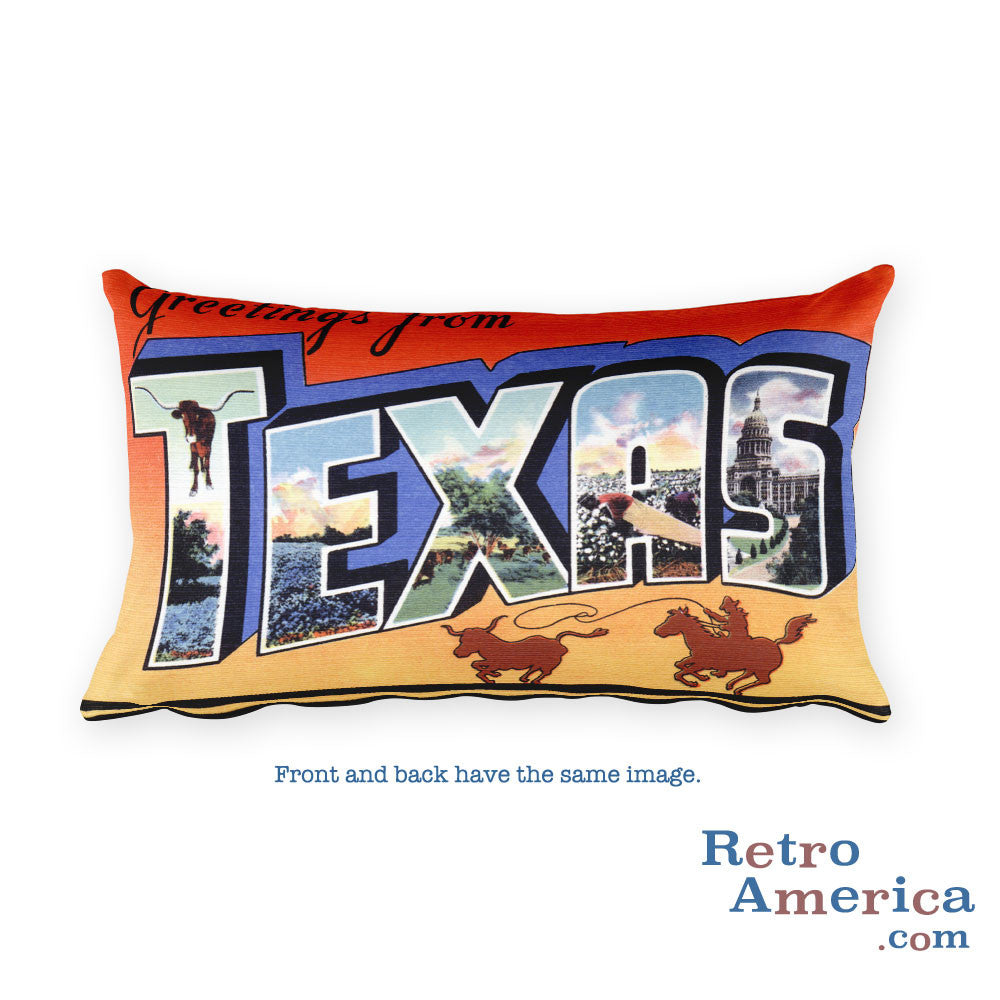 Greetings from Texas Throw Pillow 6