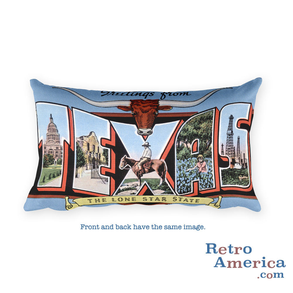 Greetings from Texas Throw Pillow 7