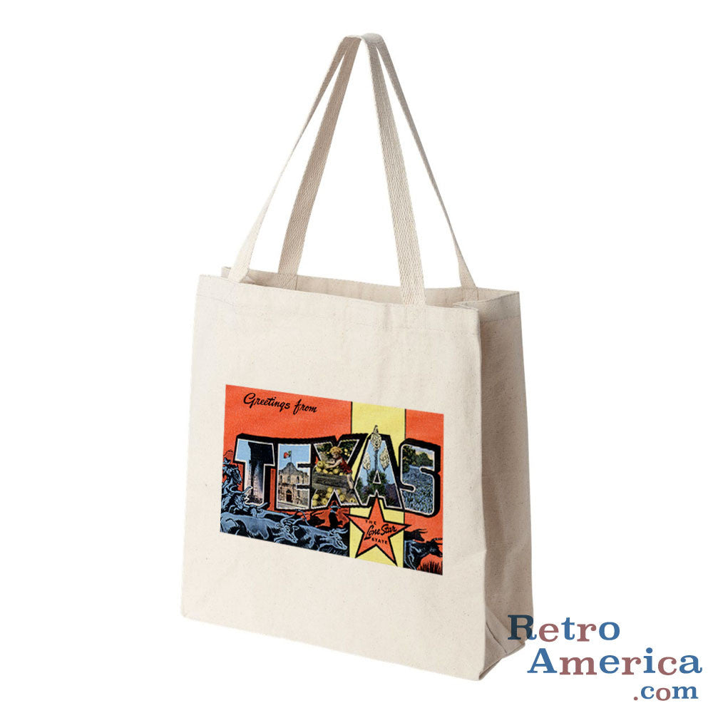 Greetings from Texas TX 5 Postcard Tote Bag