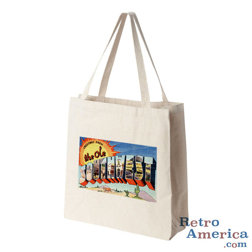 Greetings from The Ole Southwest Ole Southwest Postcard Tote Bag