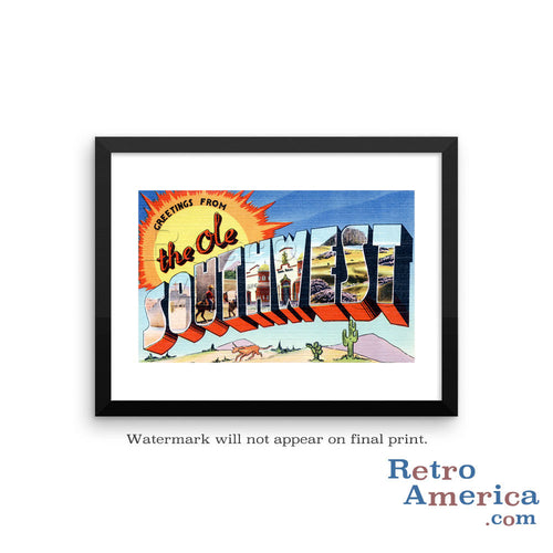 Greetings from The Ole Southwest Ole Southwest Postcard Framed Wall Art
