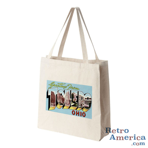 Greetings from Toledo Ohio OH 2 Postcard Tote Bag