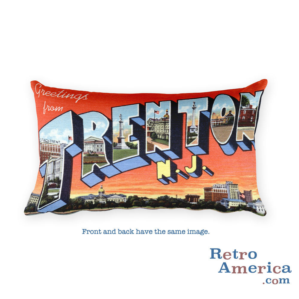 Greetings from Trenton New Jersey Throw Pillow
