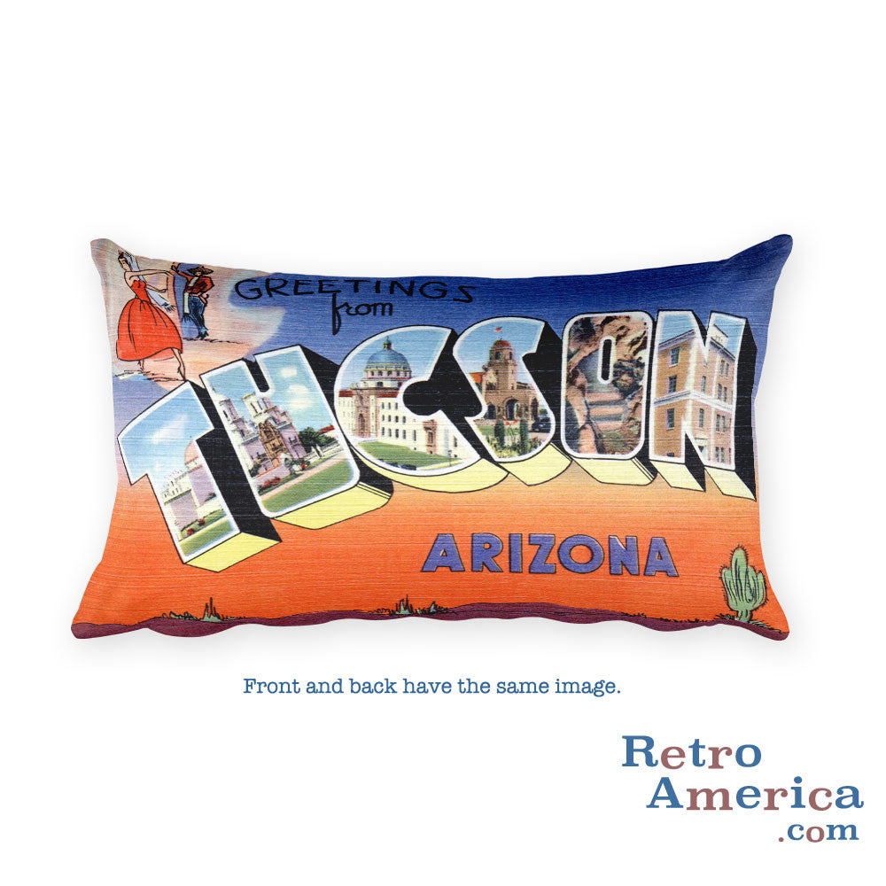 Greetings from Tucson Arizona Throw Pillow 2