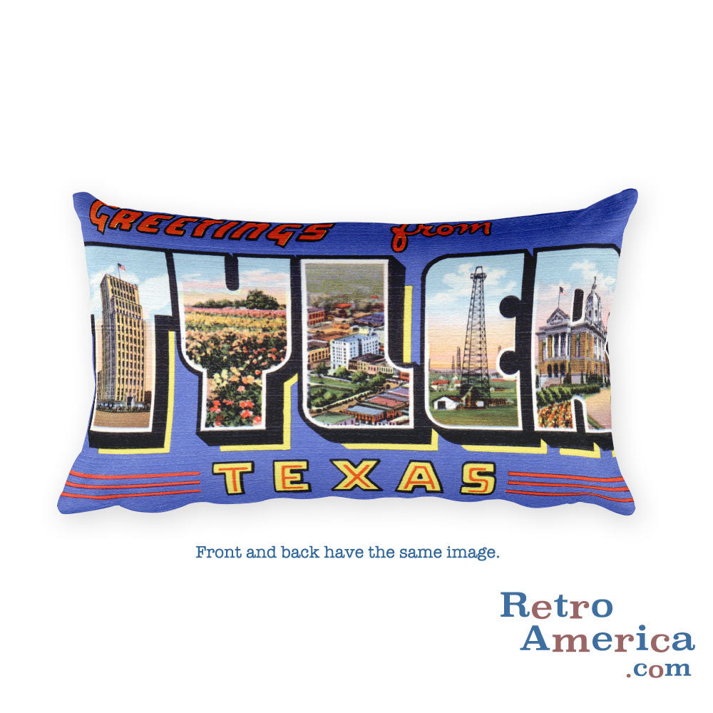 Greetings from Tyler Texas Throw Pillow