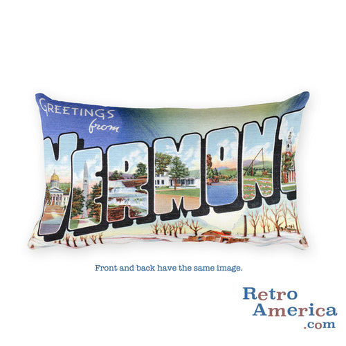 Greetings from Vermont Throw Pillow 2