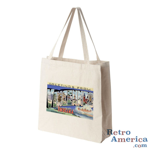 Greetings from Vincennes Indiana IN Postcard Tote Bag