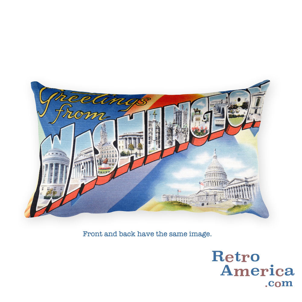 Greetings from Washington Dc Throw Pillow 1