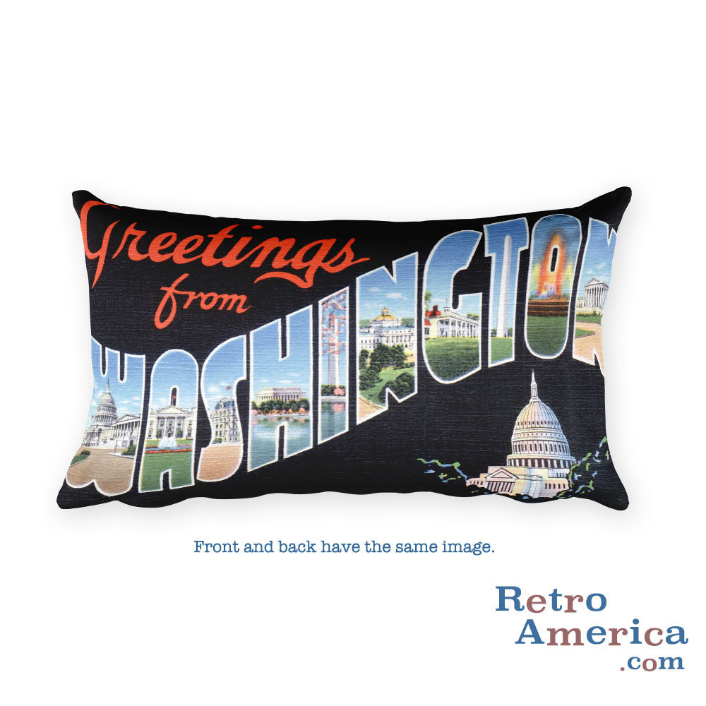 Greetings from Washington Dc Throw Pillow 2