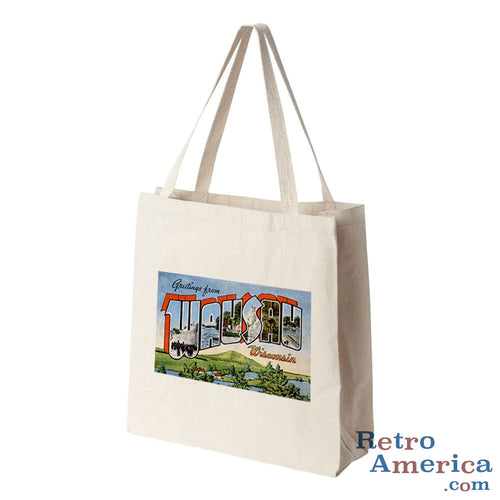 Greetings from Wausau Wisconsin WI Postcard Tote Bag
