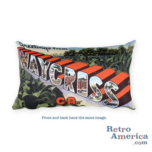 Greetings from Waycross Georgia Throw Pillow