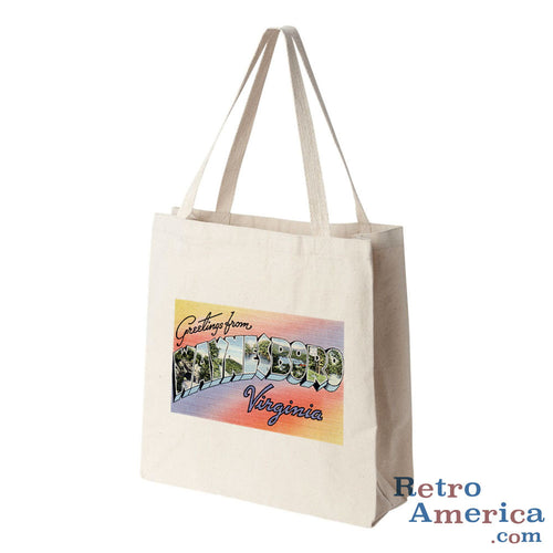 Greetings from Waynesboro Virginia VA Postcard Tote Bag