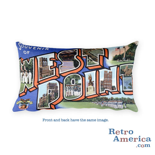 Greetings from West Point New York Throw Pillow