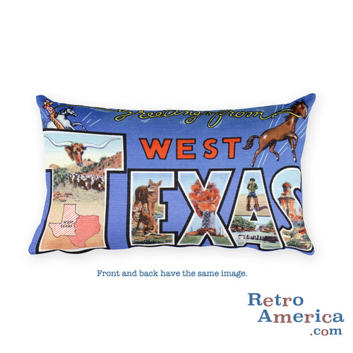 Greetings from West Texas Throw Pillow